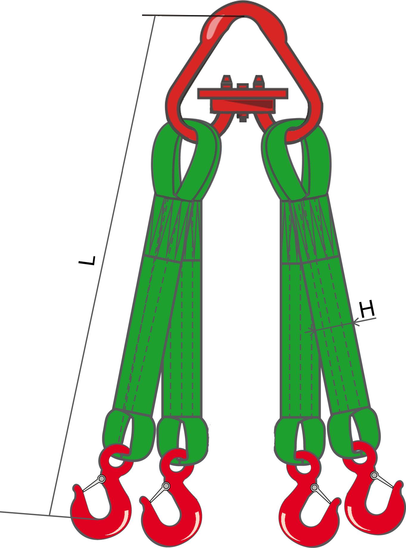 Текстильный четырехветвевой строп