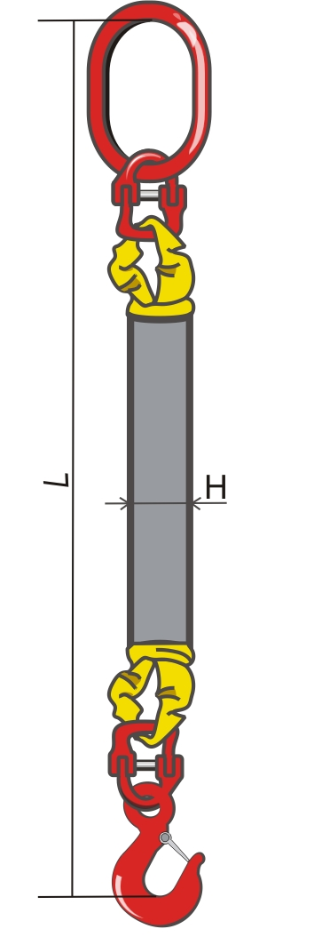 Одноветвевой круглопрядный строп
